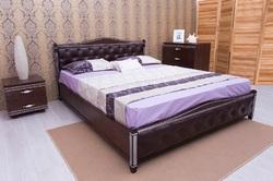Кровать Прованс патина с фрезеровкой (мягкая спинка) с под. мех.