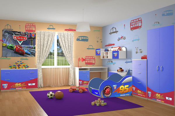 Детская комната Машина