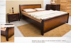 Кровать Сити с изножьем и интарсией