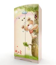 Шкаф Мишка с букетом