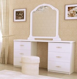 туалетный столик футура белый глянец купить в киеве фото цена