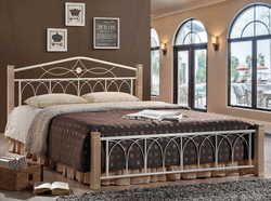 Кровать Миранда двуспальная крем