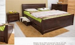 Кровать Сити с ящиками и филенкой