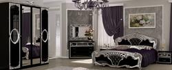 Спальня Реджина (черный глянец-серебро)