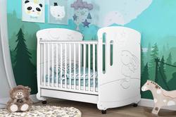 Детская кроватка Зайка со стразами